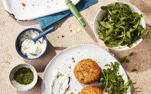 Artichoke Fish Cakes with Dill Mayo