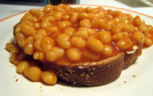 5:2 Fast Day Baked Beans on Toast