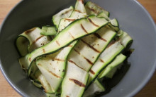5:2 Fast Diet - Griddled Courgettes with Lemon, Mint, Puy Lentils & Cheezly