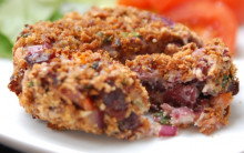 Kid-friendly Spicy Bean Burger with Crispy Breadcrumbs