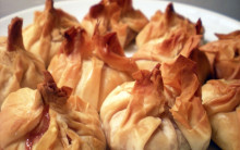 Helen's Vegan Cream Cheese & Cranberry Parcels