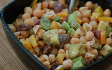 Pasta Salad with Avocado and Chickpeas
