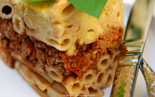 Pastitsio - Greek Macaroni, Lentil & Tomato Bake - from scratch or with shortcuts