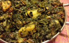 Dry Potato & Spinach Curry (Sag Aloo)