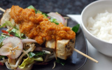 Tofu Kebabs with Fresh Sweet & Sour Sauce