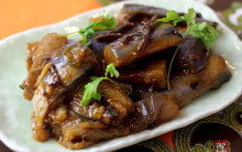 Aubergines and Red Onions Roasted with Marsala