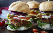Spicy Vegan Bean Burgers