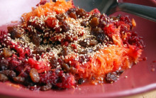 Beetroot and Carrot Salad with Toasted Sesame Seeds