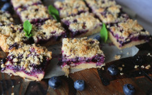 Easy Berry Crumble Slices