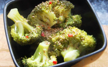 Steamed Broccoli with Sesame and Chilli