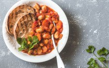 Slow-Cooked Beans with Tomatoes, Herbs & Red Wine