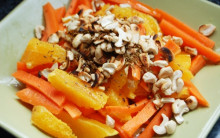 Orange and Carrot Salad with Toasted Cashews