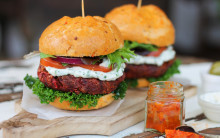 Carrot, Beetroot & Cumin Burgers