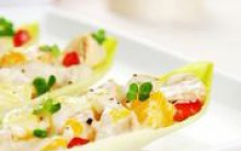 Chicory Boats with Mock Chicken Salad