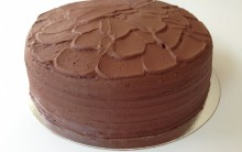 Double Layered Chocolate Cake