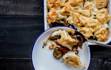 Courgette & Chickpea Filo Pie