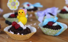 Vegan Chocolate Easter Nests