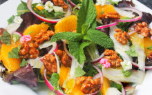 Fennel, Orange and Candied Walnut Salad