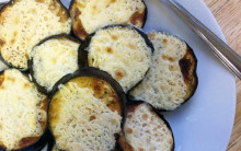 Grilled Aubergine with Vegan Cheese