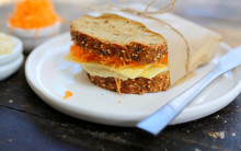 Hummus, Cheese & Carrot Sandwich
