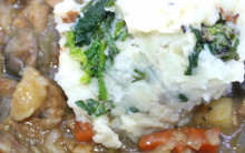 vegan Irish strew with colcannon mash