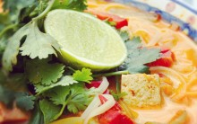 Sarah's Laksa - Big, Fragrant Malaysian Coconut Soup with Vegetables & Tofu