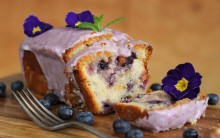 Vegan Blueberry Lemon Drizzle Cake