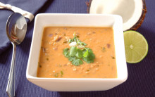 Soup with Bread & Salad