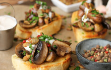 Garlic Mushrooms with Options