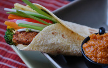 Roasted Vegetables In Tortilla Wraps