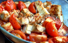 Oven-roasted Tofu Mediterranean for Caterers