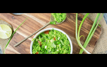 Pea Guacamole: low-fat, protein-rich and budget alternative