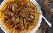 Simple Pear & Walnut Tarte Tatin
