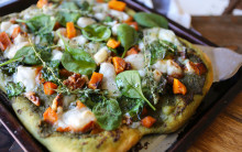 Pumpkin, Blue 'Cheese' & Walnut Pizza
