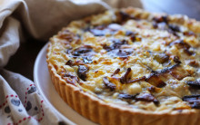 Leek, Mushroom and Blue 'Cheese' Quiche