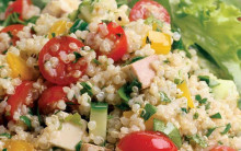Quinoa & Smoked Tofu Salad with Fresh Herbs Convenience-style