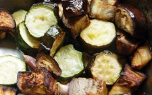 Roasted Aubergines and Courgettes