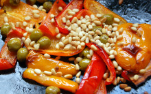 Roasted Peppers, Olives and Pinenuts