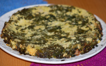 Tofu Frittata with Curly Kale