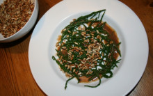 Samphire with Toasted Sunflower Seeds & Balsamic Vinaigrette