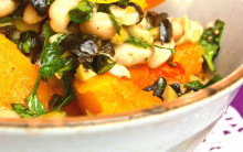 Sautéed Squash with Olive Tapenade & Cannellini Beans