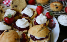 Vegan Scones with Jam & Cream