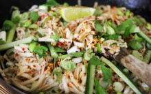 Street Noodle Salad with Peanut or Sesame Sauce, Supermarket-style