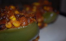 Stuffed Peppers with No-Cook Curry Sauce