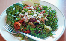 Super Raw Salad with Omega-rich Dressing