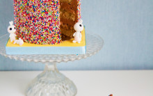 Bunny Vanilla Cake with Milk Chocolate Buttercream