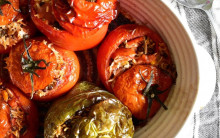 Gemista (Greek Stuffed Peppers & Tomatoes)