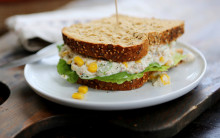 'Tuna' & Sweetcorn Sandwich