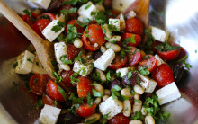 Tomato, White Bean & 'Feta' Salad