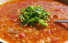 Tomato and Bulgur or Quinoa Soup